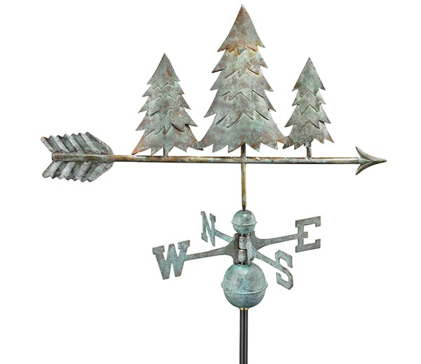 Pine-Trees-Weathervane-Blue-Verde-Copper