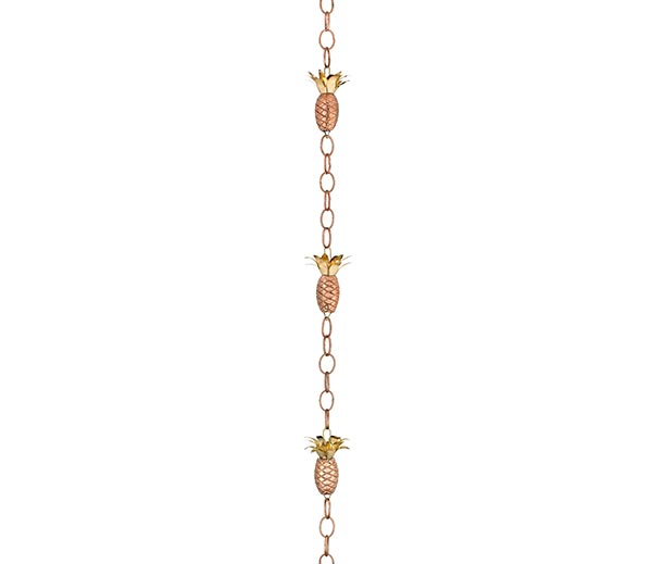 Pineapple-Rain-Chain-Polished-Copper