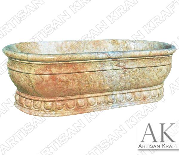 Roman Pedestal Marble Bathtub