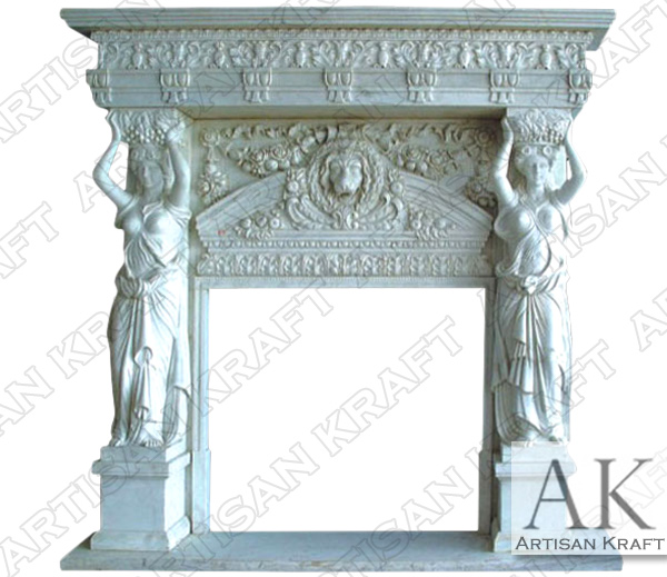 ROYAL-ORNATE-STATUE-FIREPLACE-OVERMANTEL