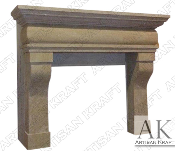 Rustic French Fireplace Mantel