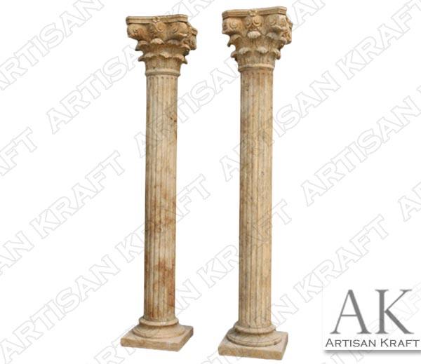 Roman-Corinthian-Fluted-Column