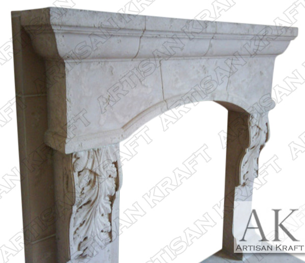 Scottsdale Travertine Fireplace Mantel