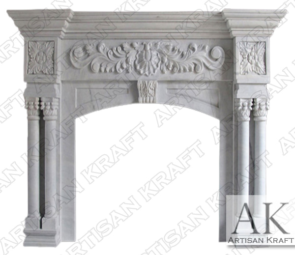 St Ives Column Marble Fireplace Mantel