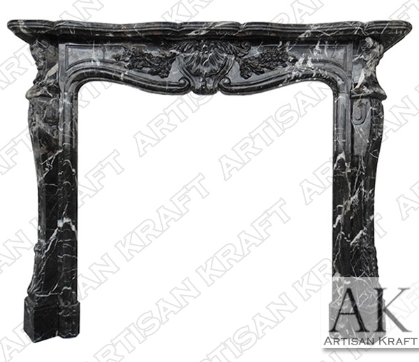 St Louis Black Marble Fireplace Mantel