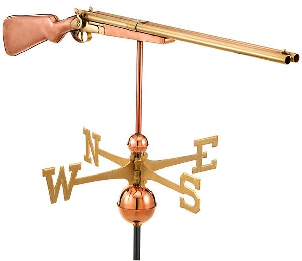 Shotgun-Weathervane-Polished-Copper