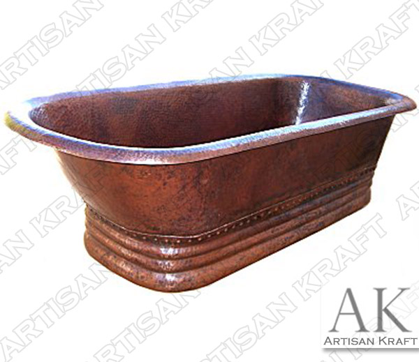 Small-Hammered-Copper-Bath-Tub