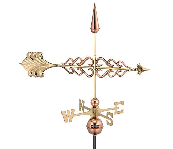Smithsonian-Arrow-Weathervane-Polished-Copper