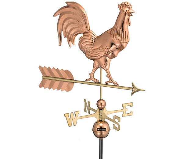 Smithsonian-Rooster-Weathervane-Polished-Copper