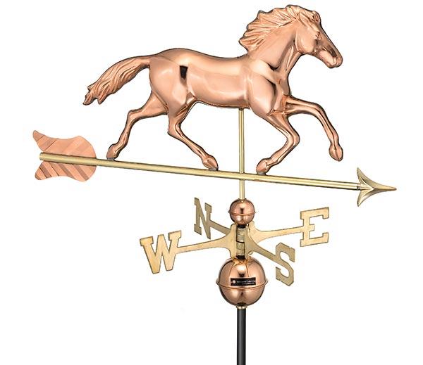 Smithsonian-Running-Horse-Weathervane-Polished-Copper