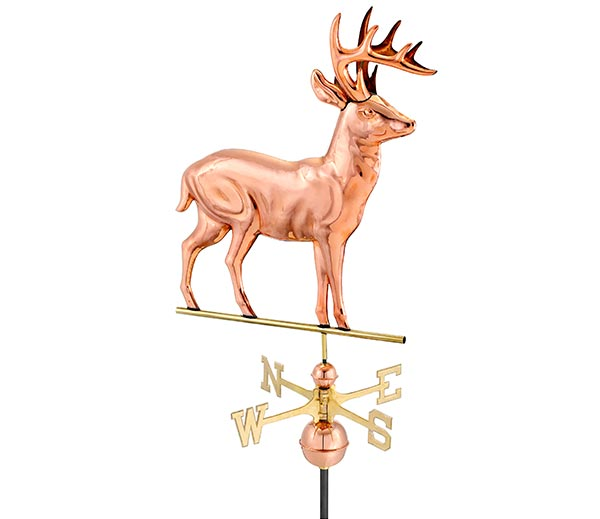 Standing-Deer-Weathervane-Polished-Copper