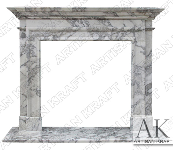 Traditional 2 Marble Fireplace Surround