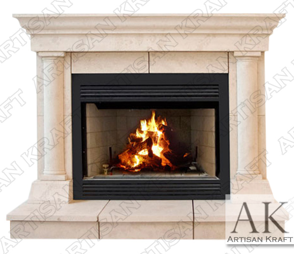 Tuscan Column Fireplace Mantel Surround