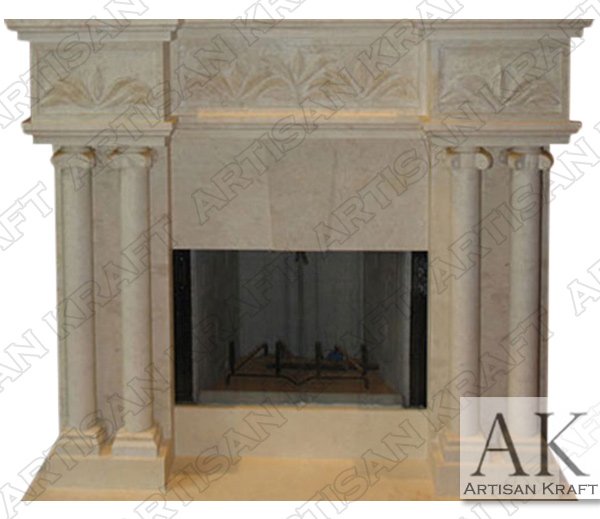 Tuscany Column Marble Fireplace Mantel