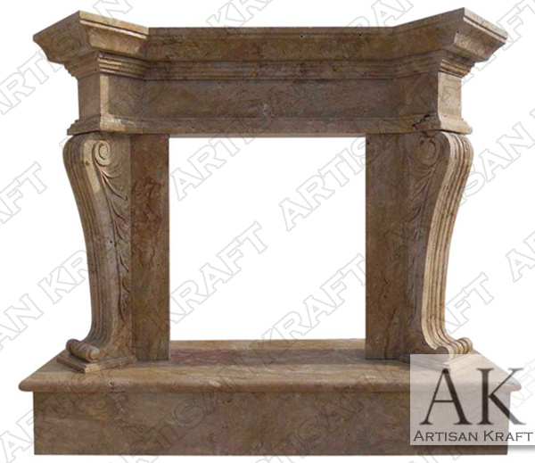 Olivia Travertine Fireplace Mantel Surround