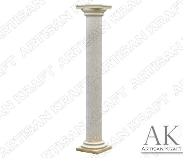 Tuscan-Non-Tapered-Fluted-Marble-Column