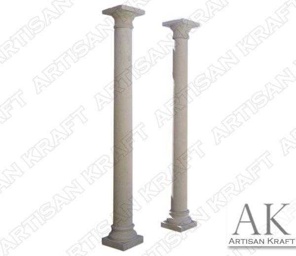 Tuscan-Plain-Smooth-Tapered-Marble-Column