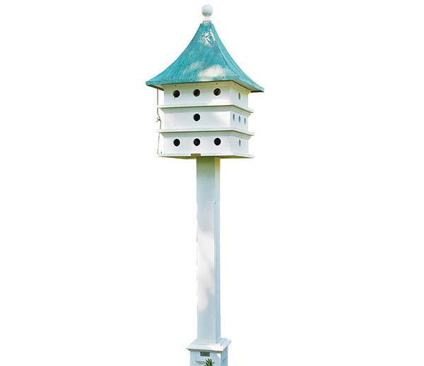 Ultimate-Martin-Bird-House-with-Blue-Verde-Copper-Roof