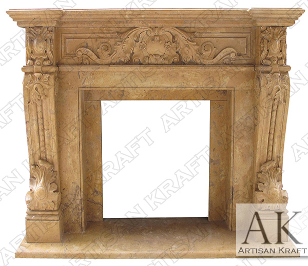 Verona Antique Fireplace Mantel Marble