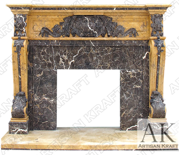 Verona Marble Regal Fireplace Mantel