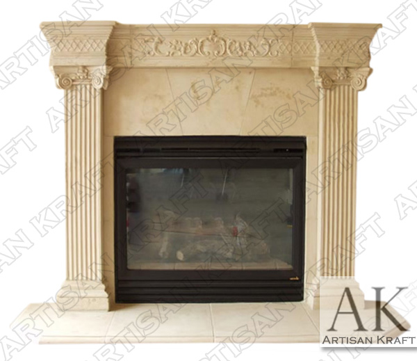 Windsor Fluted Pilaster Fireplace Mantel