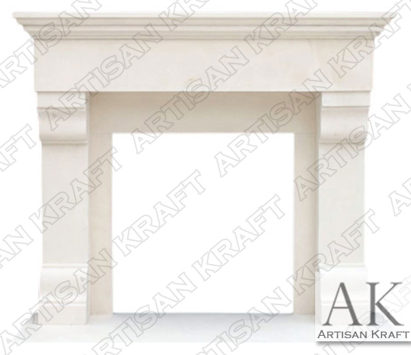 Winnetka Limestone Fireplace Mantel