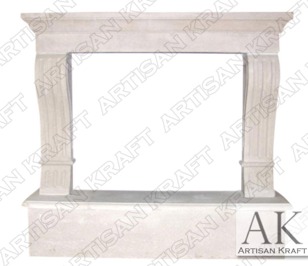 York Cast Stone Fireplace Mantel