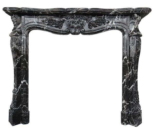 St Louis Black Marble Fireplace