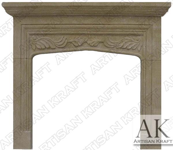 Sandstone Tudor Fireplace Mantel